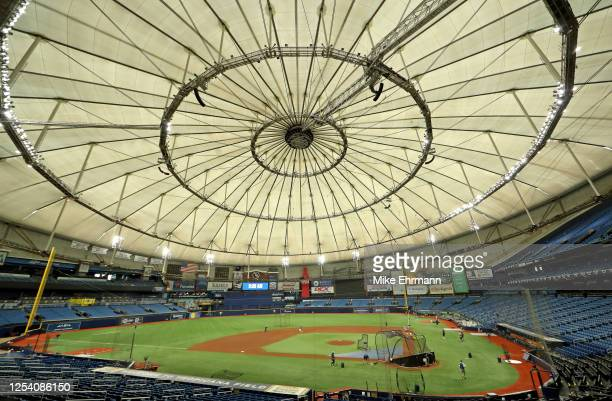 General view of Tropicana Field during their Summer Workout on July 03, 2020 in St Petersburg, Florida.