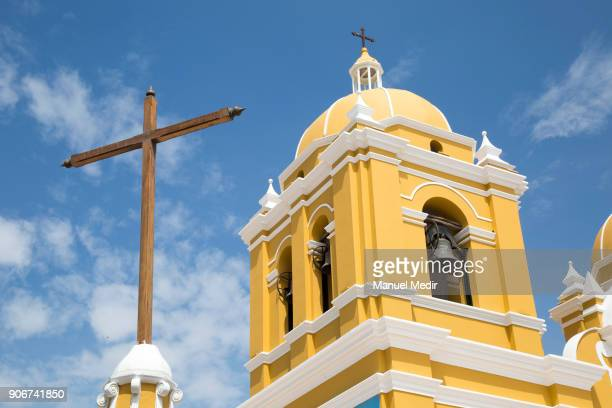 General view of Trujillo Cathedral prior Pope Francis 4day apostolic visit to Peru on January 18 2018 in Trujillo Peru
