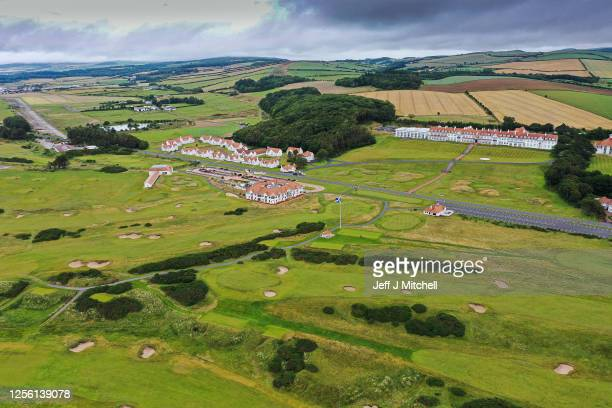 A general view of Trump Hotel and golf course on June 14 2020 in Turnberry Scotland The Trump Turnberry is planning an expansion of its resort...