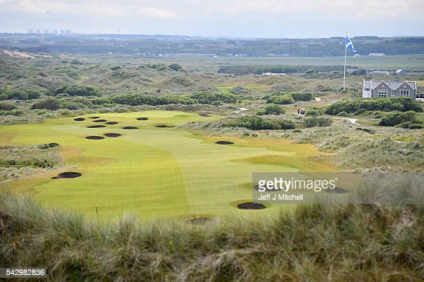 General view of Trump International Golf Links on June 25, 2016 in Aberdeen, Scotland. The US presidential hopeful was in Scotland for the reopening...