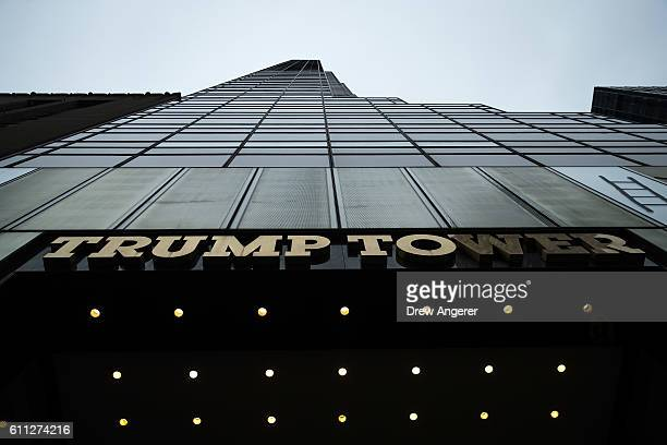 A general view of Trump Tower on Fifth Avenue September 29 2016 in New York City The building is owned by Republican presidential candidate Donald...
