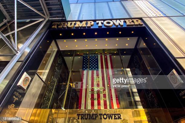 General view of Trump Tower on May 19, 2021 in New York City. New York Attorney General Letitia James is taking part with the Manhattan district...