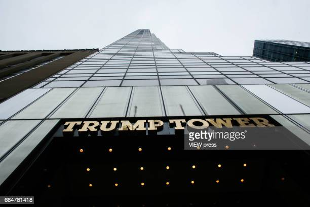 General view of Trump Tower Where United States First Lady Melania Trump is living on April 4 2017 in Manhattan New York Police Commissioner James...