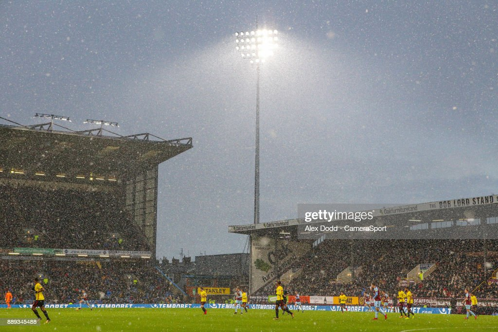 A general view of Turf Moor, during the first half during the Premier League match between Burnley and Watford at Turf Moor on December 9, 2017 in Burnley, England.
