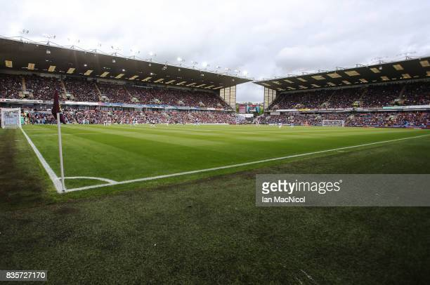 A general view of Turf Moor during the Premier League match between Burnley and West Bromwich Albion at Turf Moor on August 19 2017 in Burnley England
