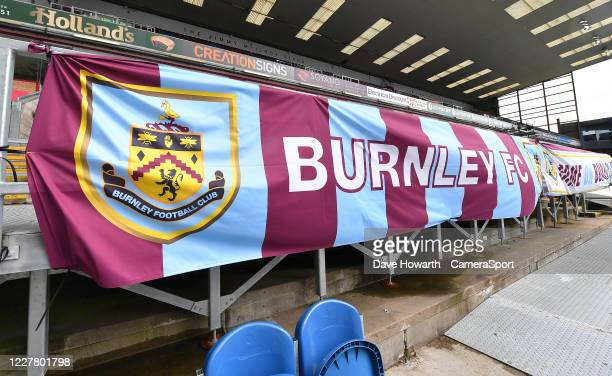 A general view of Turf Moor home of Burnley during the Premier League match between Burnley FC and Brighton Hove Albion at Turf Moor on July 26 2020...