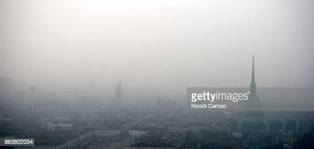 General view of Turin on a day of environment alert due to air pollution Due to poor air quality the Municipality of Turin has temporarily limited...