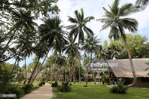 General view of Tuvanipupu Island where Catherine, Duchess of Cambridge and Prince William, Duke of Cambridge are to spend the night on their Diamond...