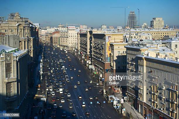 A general view of Tverskaya Street on January 23 2013 in Moscow Russia