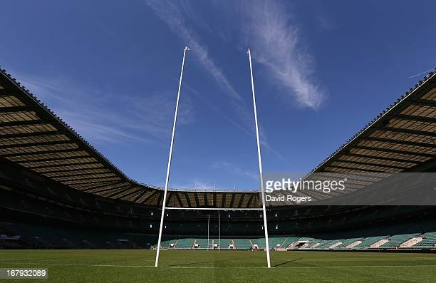 A general view of Twickenham Stadium on May 2 2013 in London England