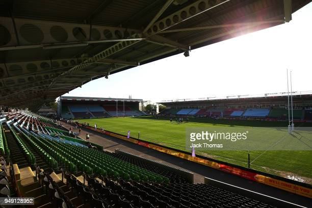 A general view of Twickenham Stoop on April 20 2018 in London England