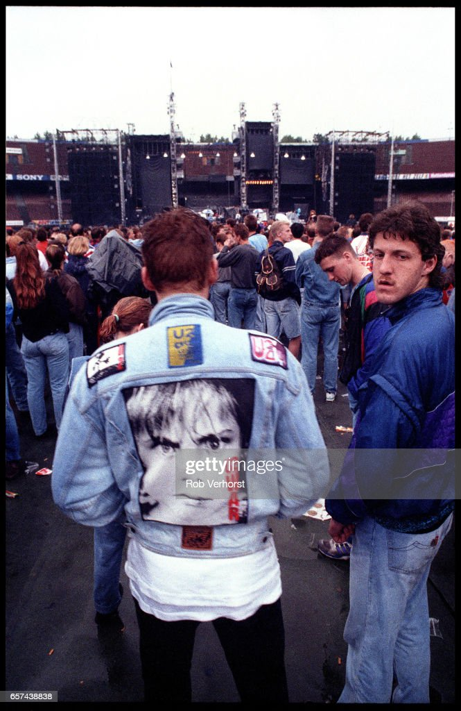 General view of U2 fans in the audience from the back of the