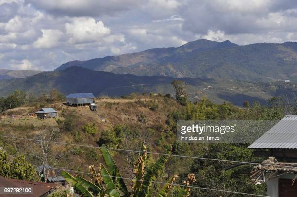 A general view of Ukhrul district on January 16 2015 in Manipur India