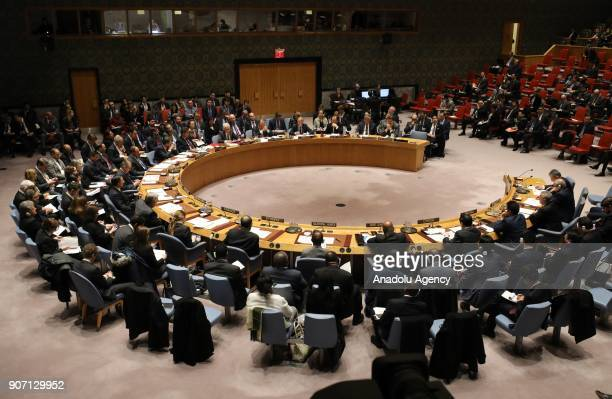 General view of UN Security Council meeting to discuss the topic of 'Building Regional Partnership in Afghanistan and Central Asia as a Model to Link...