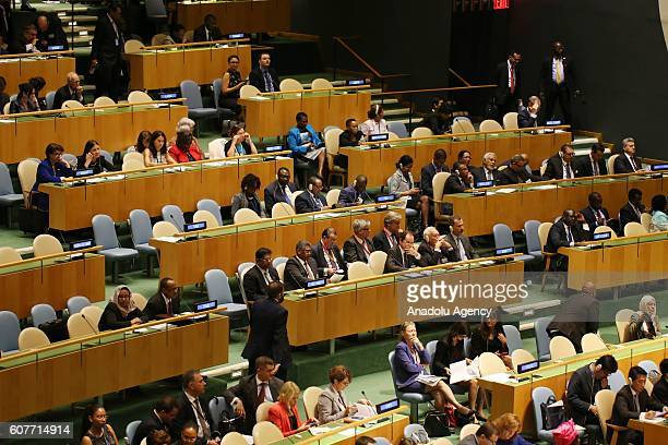 A general view of United Nations Summit for Refugees and Migrants in UN headquarters in New York USA on September 19 2016