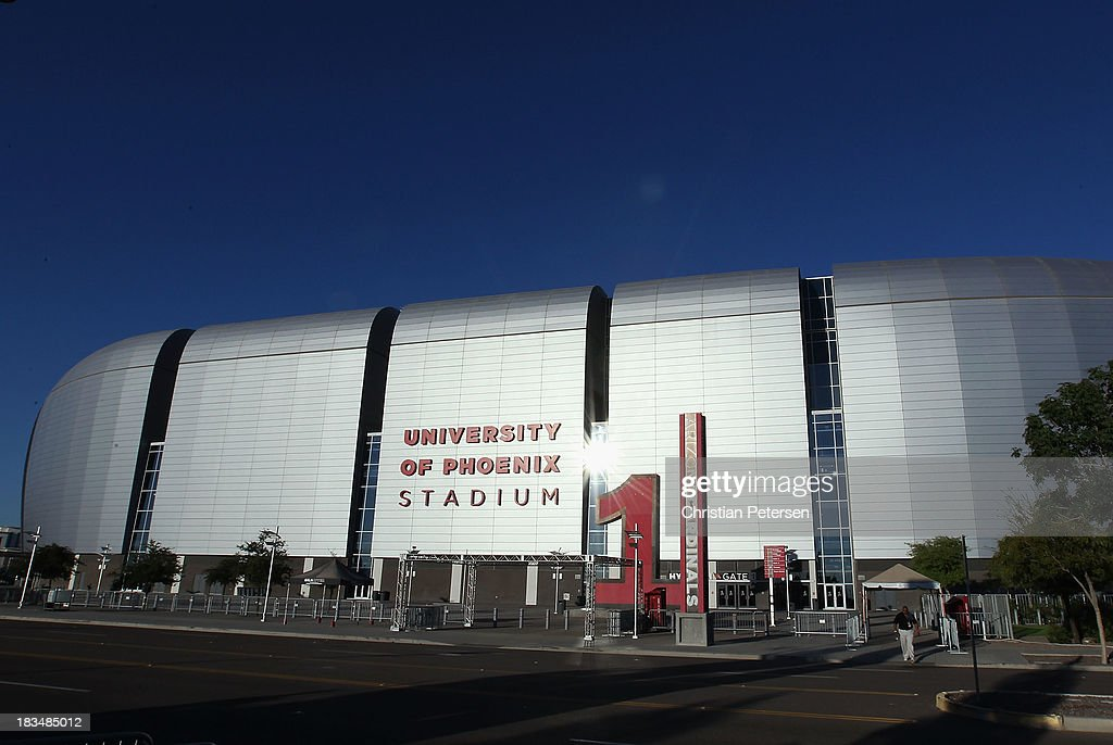 General view of University of Phoenix Stadium following the NFL game between the Arizona Cardinals and the Carolina Panthers on October 6, 2013 in Glendale, Arizona. The Cardinals defeated the Panthers 22-6.