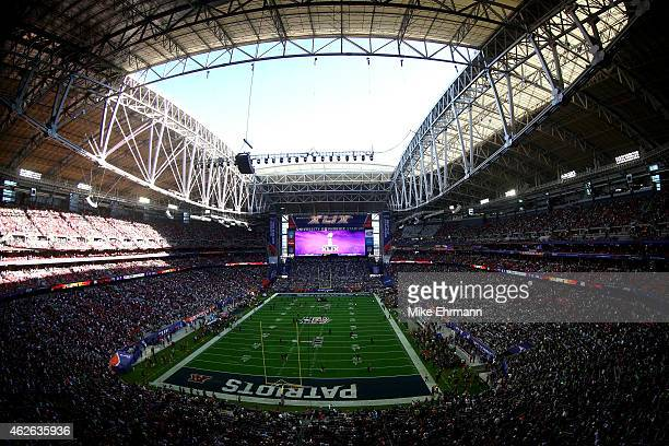 A general view of University of Phoenix Stadium prior toSuper Bowl XLIX between the New England Patriots and the Seattle Seahawks on February 1 2015...