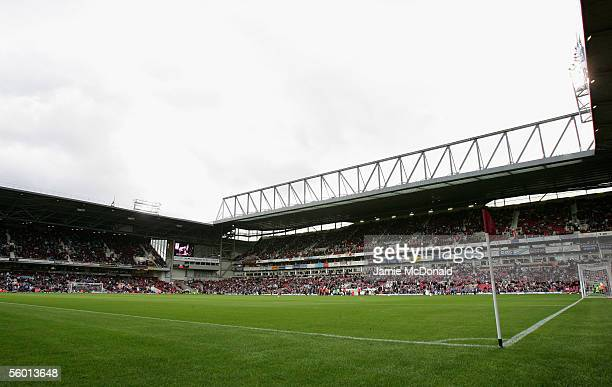 A general view of Upton Park during the FA Barclays Premiership match between West Ham United and Middlesbrough at Upton Park on October 23 2005 in...