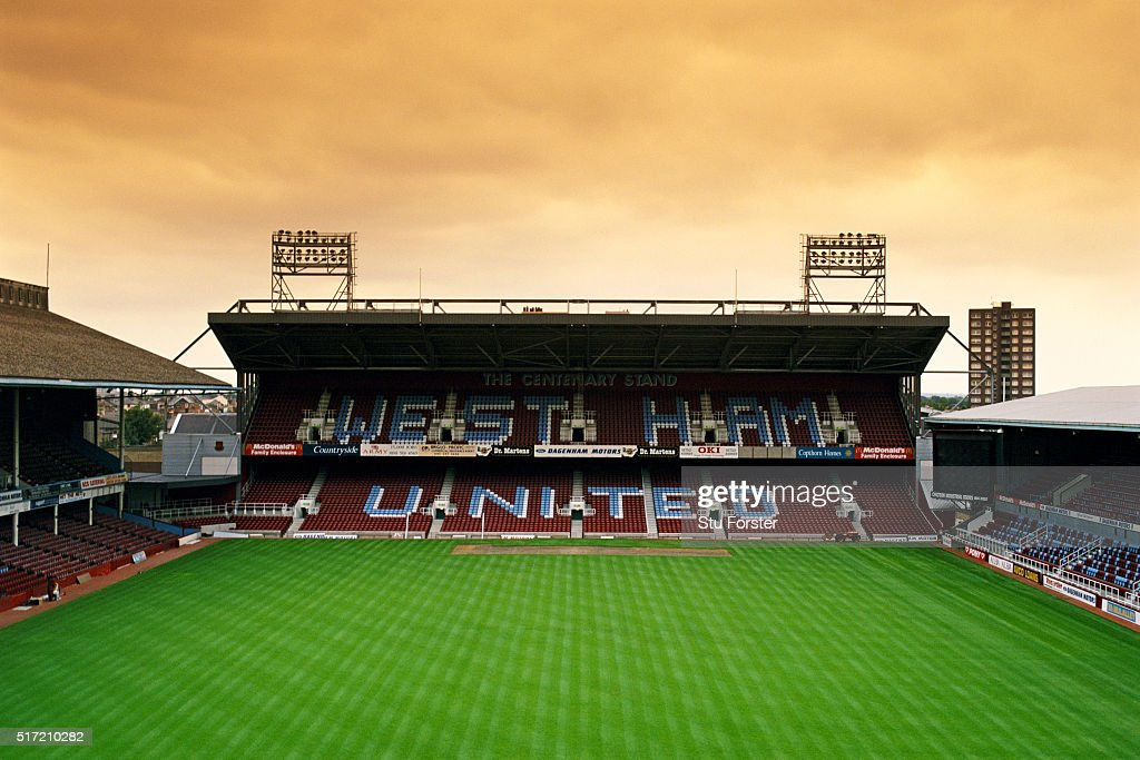A general view of Upton Park or the Boleyn Ground, home of West Ham United, pictured in July, 1997 in London, England.