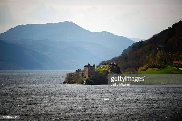 General view of Urquhart Castle, Drumnadrochit on April 16, 2014 in Scotland. A referendum on whether Scotland should be an independent country will...