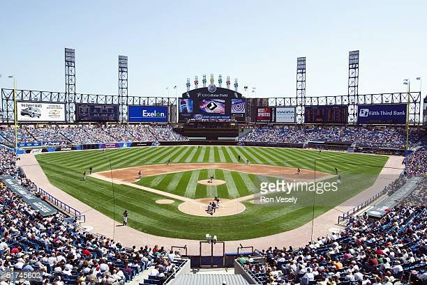 General view of U.S. Cellular Field taken during a game on April 27, 2003 in Chicago, Illinois.
