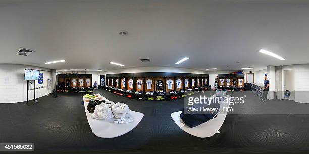 General view of USA dressing room before the 2014 FIFA World Cup Brazil Round of 16 match between Belgium v USA at Arena Fonte Nova on July 1, 2014...