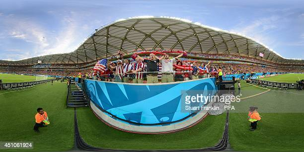 A general view of USA fans before the 2014 FIFA World Cup Brazil Group G match between USA v Portugal at Arena Amazonia on June 22 2014 in Manaus...