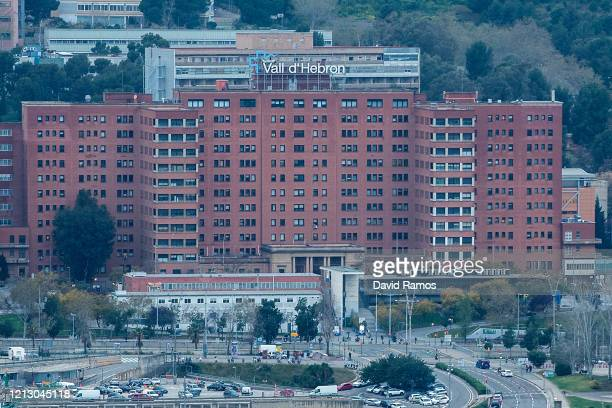 A general view of Vall d'Hebron Hospital on March 17 2020 in Barcelona Spain As part of the measures against the virus expansion the Government has...