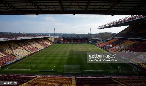 General view of Valley Parade, home of Bradford City before the Sky Bet League Two match between Bradford City and Bolton Wanderers at Northern...