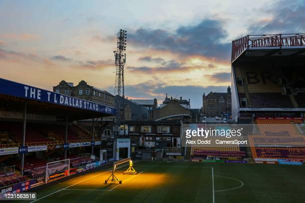 General view of Valley Parade, home of Bradford City during the Sky Bet League Two match between Bradford City and Bolton Wanderers at Northern...