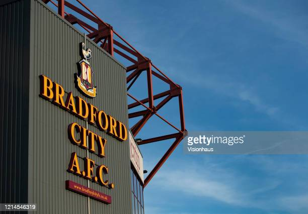 A general view of Valley Parade known as Utilita Energy Stadium home of Bradford City Football Club on March 23 2020 in Bradford England