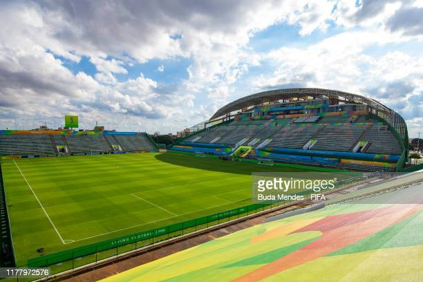 A general view of Valmir Campelo Bezerrao Stadium ahead of the FIFA U17 Men's World Cup Brazil 2019 on October 24 2019 in Brasilia Brazil