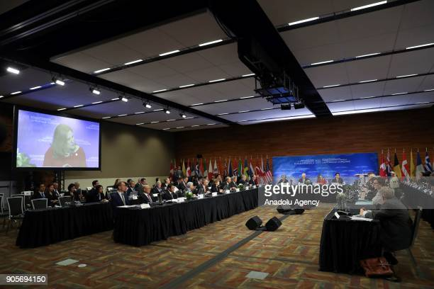 General view of Vancouver Foreign Ministers Meeting on Security and Stability on Korean Peninsula in Vancouver Canada on January 16 2018 US Secretary...