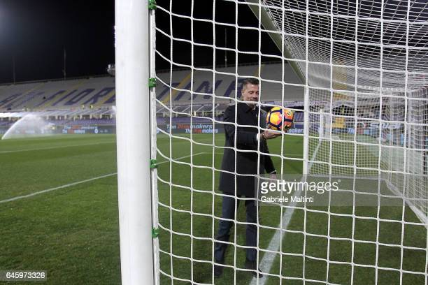 General view of VAR tecnology during the Serie A match between ACF Fiorentina and FC Torino at Stadio Artemio Franchi on February 27 2017 in Florence...