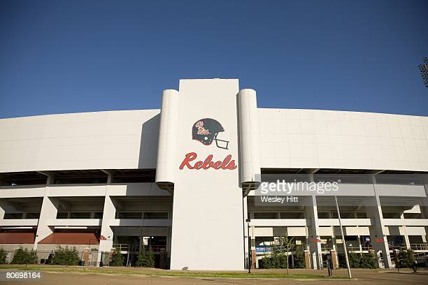 General view of Vaught-Hemingway Stadium, home of the Ole Miss Rebels, on the campus of the University of Mississippi on April 12, 2008 in Oxford,...