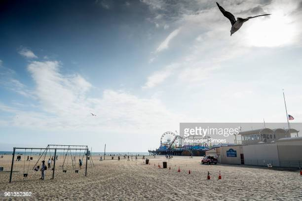 A general view of Venice Beach during Borussia Dortmund's USA Training Camp in the United States on May 21 2018 in Los Angeles United States