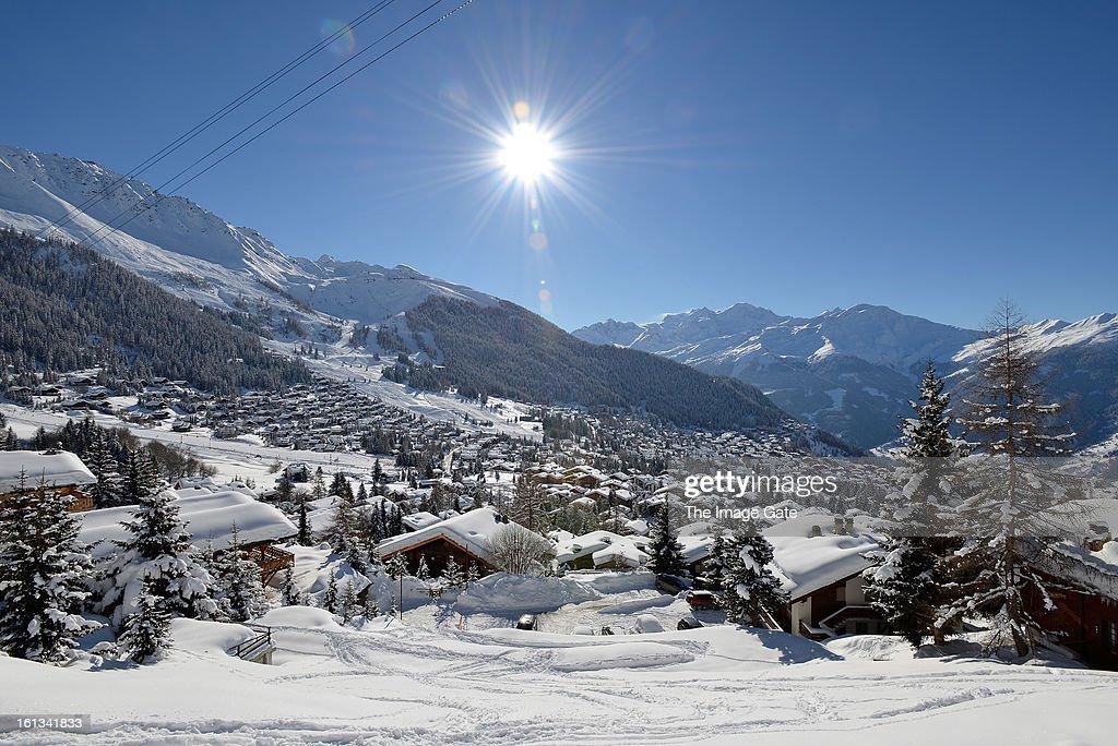 A general view of Verbier on February 10, 2013 in Verbier, Switzerland.