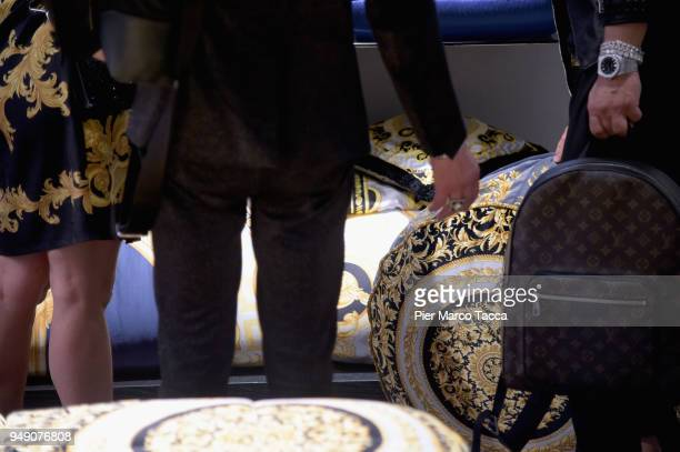A general view of Versace Home stand at Salone Del Mobile during Milan Design Week at Fiera Milano Rho on April 20 2018 in Milan Italy