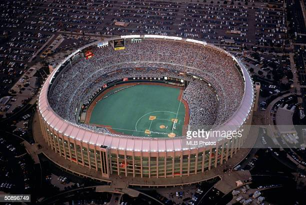 A general view of Veterans Stadium during the 1996 season in Philadelphia Pennsylvania Veterans Stadium was the home of the Philadelphia Phillies...