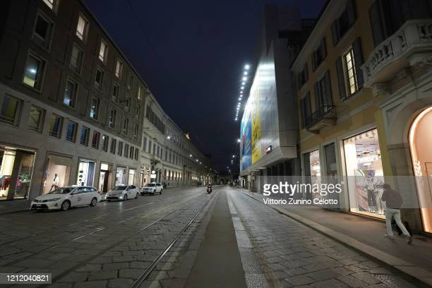 A general view of Via Alessandro Manzoni on March 12 2020 in Milan Italy The Italian Government has strengthened up its quarantine rules shutting all...