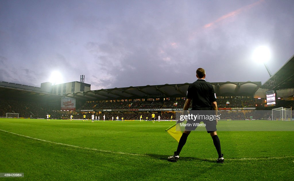 General view of Vicarage Road home of Watford during the Sky Bet Championship match between Watford and Derby County at Vicarage Road on November 22, 2014 in Watford, England.