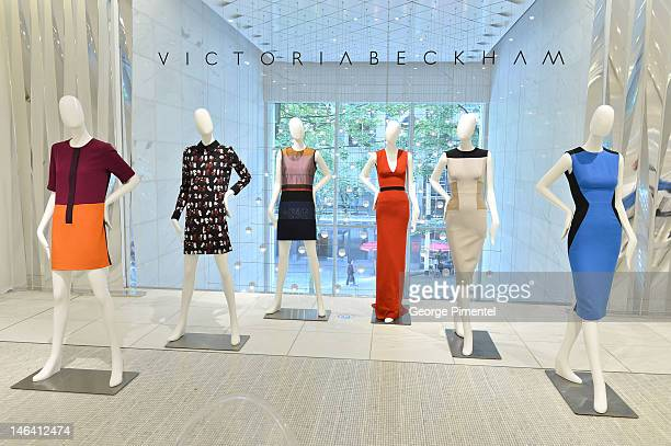 A general view of Victoria Beckham fall winter 2012 collection at the Holt Renfrew store on June 15 2012 in Vancouver Canada