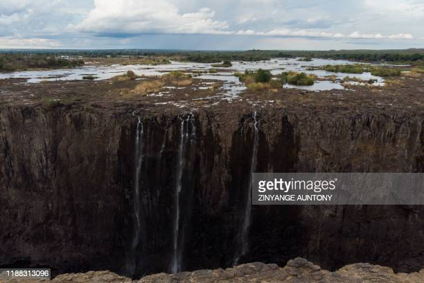 A general view of Victoria Falls in Zimbabwe on December 10 2019 The Victoria Falls a UNESCO world heritage site measuring 108 metres high and almost...