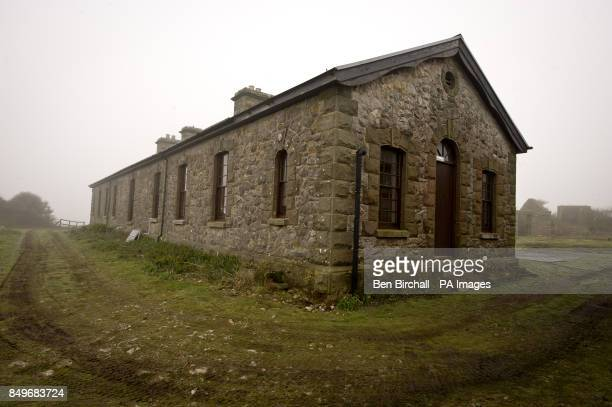 A general view of Victorian stone barracks built in 1869 to sleep up to 50 men on Flat Holm island in the Bristol Channel The barracks are now a...
