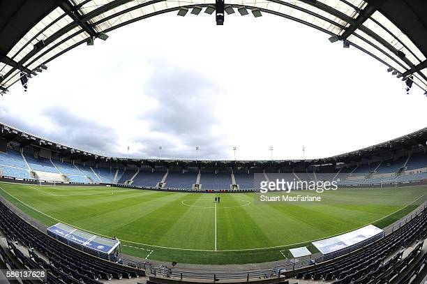 A general view of Viking Stadion before the pre season friendly between Viking FK and Arsenal on August 5 2016 in Stavanger Norway