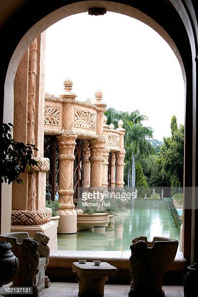 A general view of Villa Del Palazzo restaurant in The Palace of the Lost City Hotel within the Sun City Resort which is rumoured to be the base of...