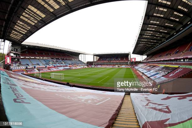General view of Villa Park before the Premier League match between Aston Villa and Everton at Villa Park on May 13, 2021 in Birmingham, England.
