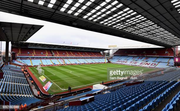 A general view of Villa Park the home stadium of Aston Villa during the Sky Bet Championship match between Aston Villa and Wolverhampton Wanderers at...