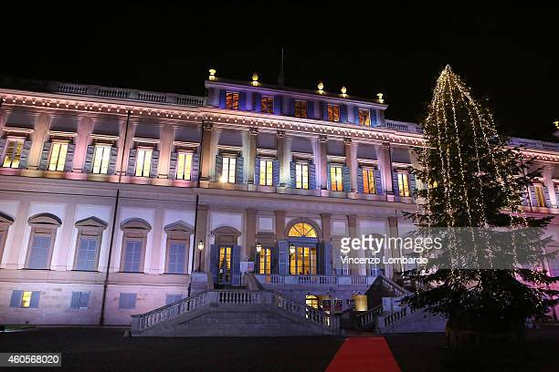 A general view of Villa Reale during the Fondazione IEO CCM Christmas Dinner For on December 16 2014 in Monza Italy