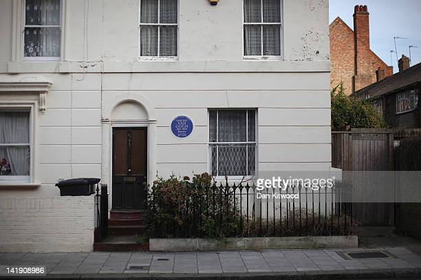 A general view of Vincent Van Gogh's former London home on March 25 2012 in London England The Grade II listed house in Stockwell which the painter...